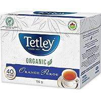 Tetley Organic Orange Pekoe Tea, Orange Pekoe, 40 Count (5717403559)