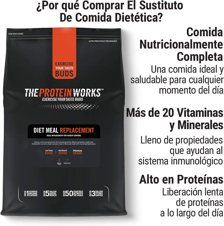 Sustituto de comida dietético,rico en nutrientes,THE PROTEIN WORKS,chocolate suave | 1kg
