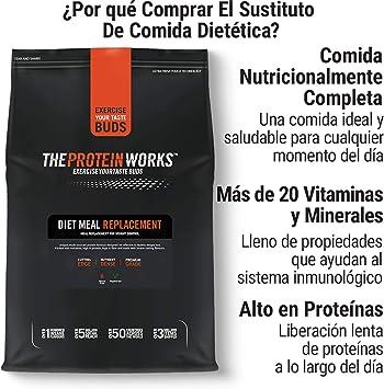 Sustituto De Comida Dietético   Rico En Nutrientes   Vitaminas Potenciadoras del Sistema Inmune   Asequible, Saludable & Rápida   THE PROTEIN WORKS   ...