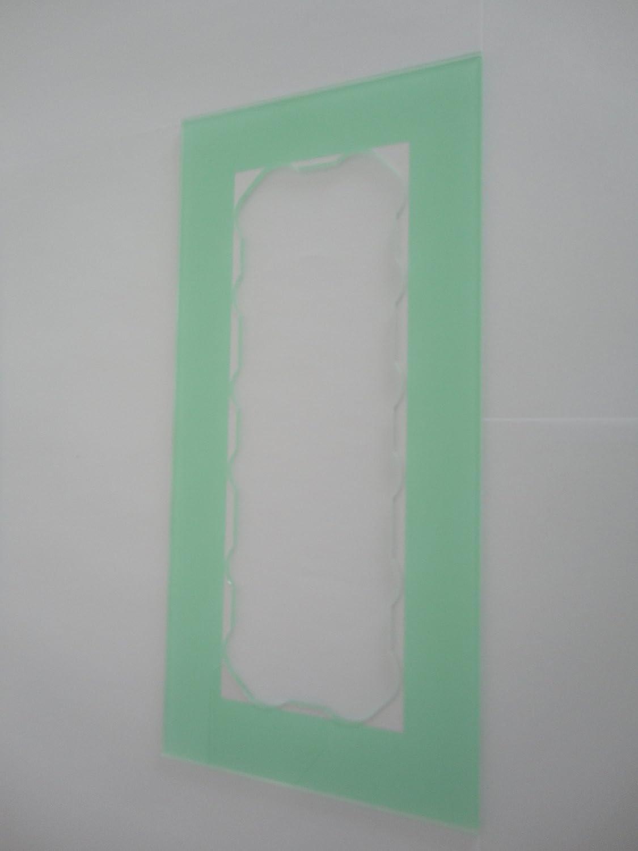 efecto de cristal lacado GEA marco decorativo Paneles para interruptor apto para todos los interruptores disponibles