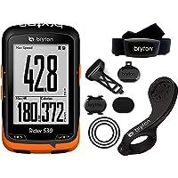 Bryton - Rider 530T - GPS avec capteur Cadence et Ceinture Cardio, Noir