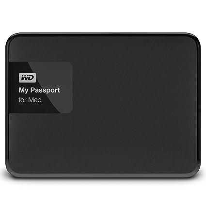 WD My Passport for Mac - Disco Duro Externo portátil de 2 TB (USB 3.0), Color Negro