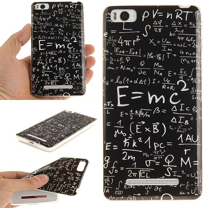 Qiaogle Teléfono Caso - Funda de TPU silicona Carcasa Case Cover para Xiaomi Mi4C / Mi 4I (5.0 Pulgadas) - (TX09 / Mathematical Formulas)