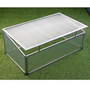 Semillero aluminio 100 x 60 x 40 cm, policarbonato, invernadero.