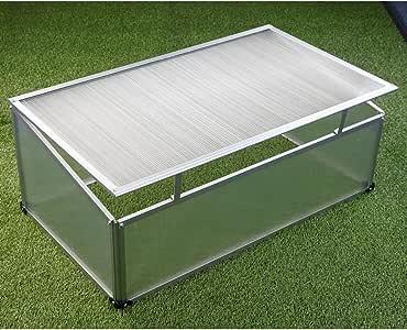 Semillero aluminio 100 x 60 x 40 cm, policarbonato, invernadero.: Amazon.es: Jardín