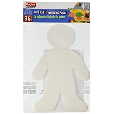"Roylco Finger Paint Wee Kid Shape, 7 1/2"" x 12"": Arts, Crafts & Sewing"