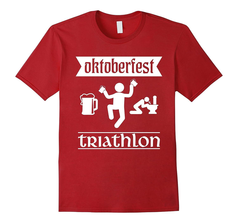 Oktoberfest Triathlon T-Shirt For Beer And Drinking
