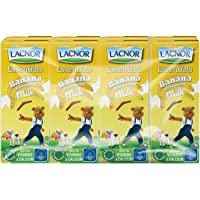 Lacnor  Essentials Banana Milk - Pack of 8 Pieces (8 x 180 ml)