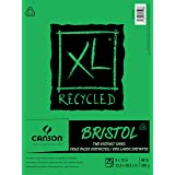 Canson XL Series Recycled Bristol Paper Pad, Dual Sided Smooth and Vellum for Pencil, Marker or Ink, Fold Over, 96 Pound, 9 x