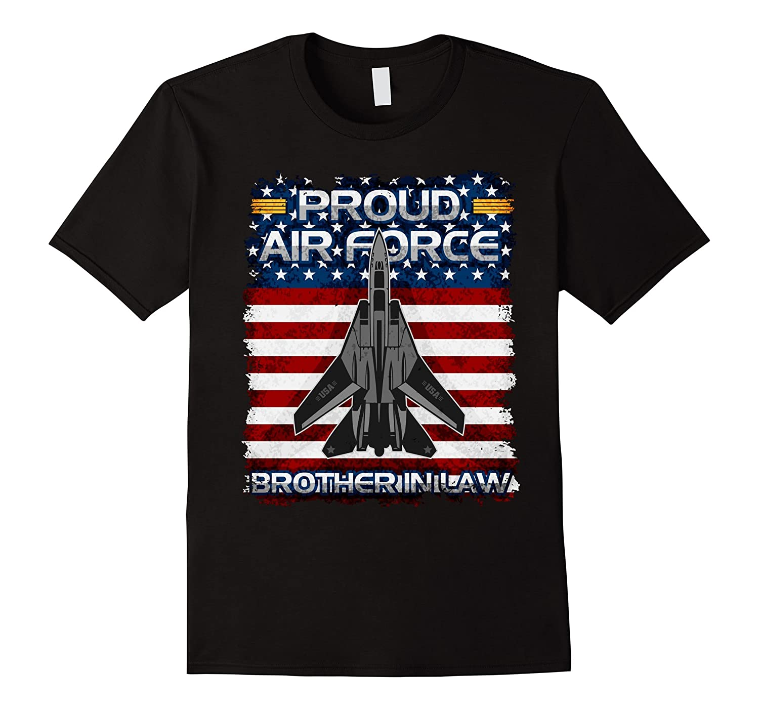 Mens Proud Air Force Brother in Law Military Support T-shirt