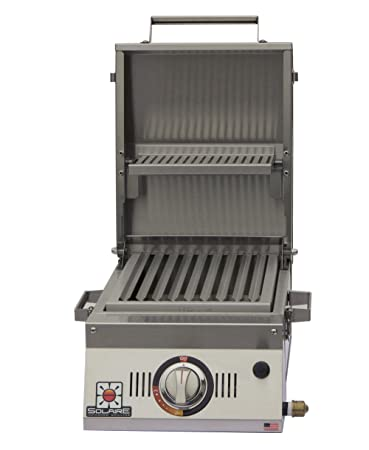 Superior Solaire SOL AA12A LP Single Burner Tabletop Infrared Propane Gas Grill,  Stainless Steel