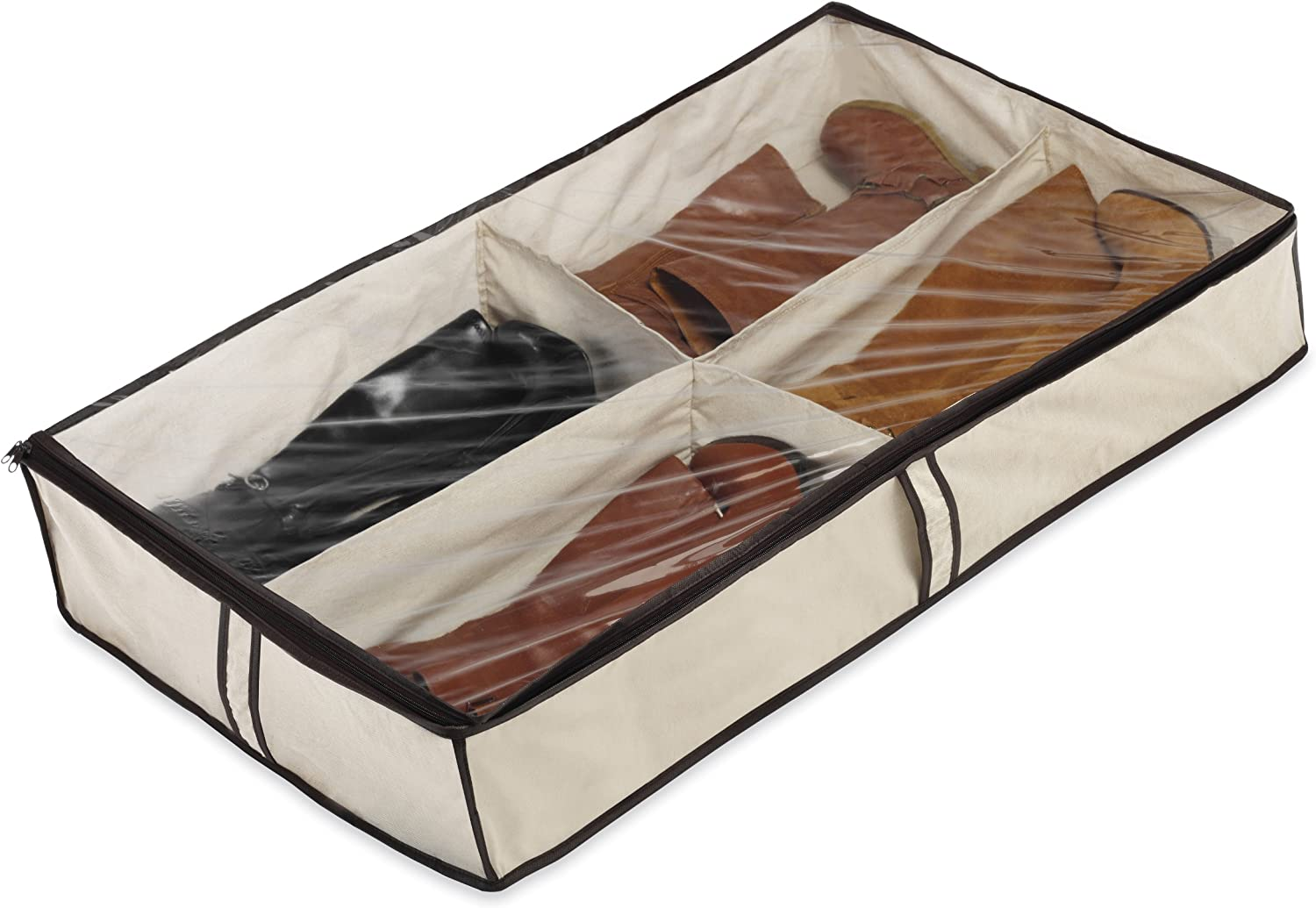 Whitmor 4 Section Underbed Boot Bag