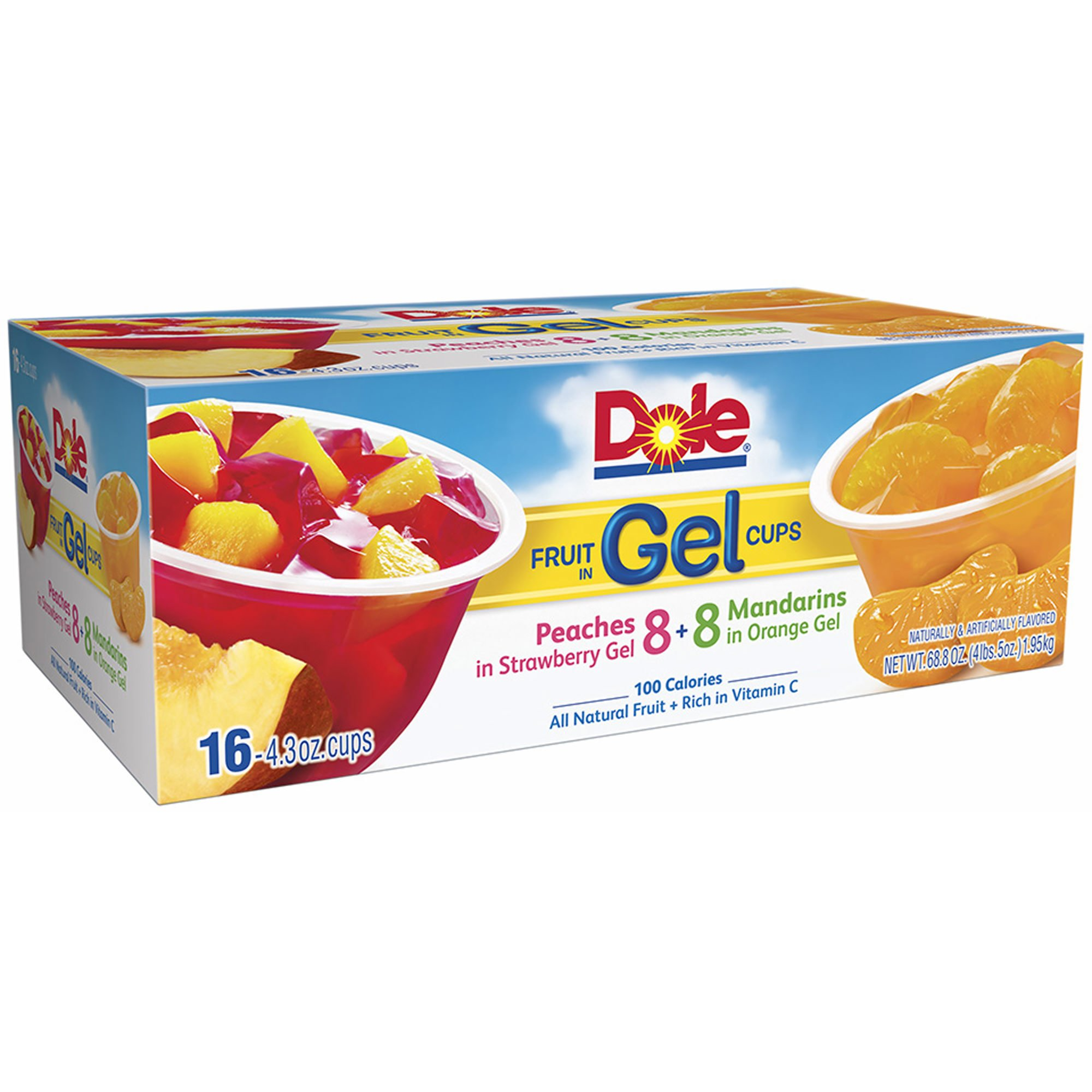 Dole Fruit in Gel Cups Variety Pack, 16 pk./4.3 oz. (pack of 6) by Dole