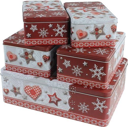 macosa eb400696 Juego de 5 Cajas rectangulares para Galletas ...