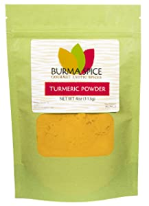 Turmeric Powder   Natural Food Coloring   Perfect for Asian Cuisine   Curries and Masala 4 oz.