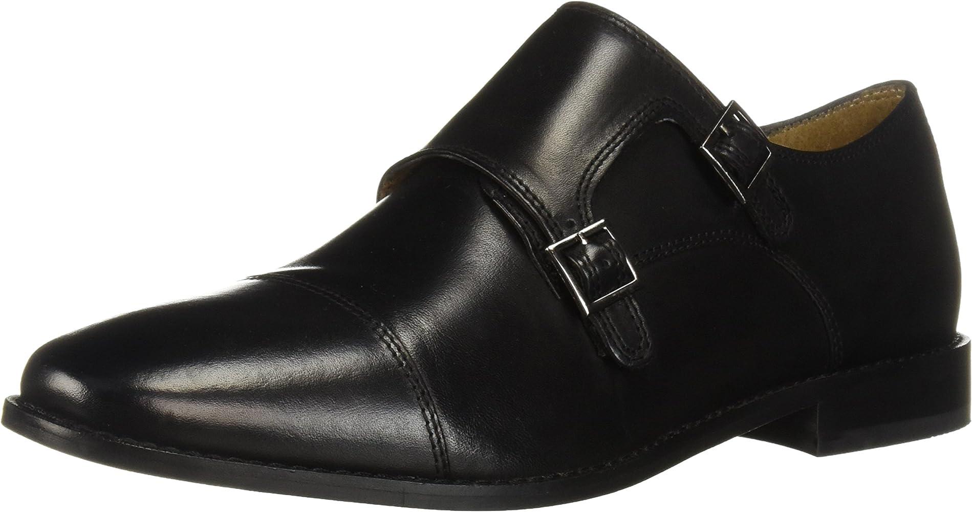 Details about  /shoes men HERMAN /& SONS elegant burgundy leather BK967