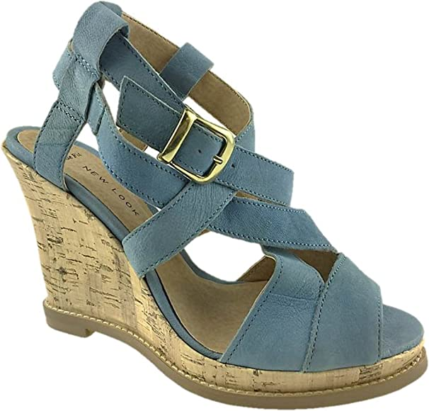 NEW LOOK LADIES LEATHER STRAPPY WIDE