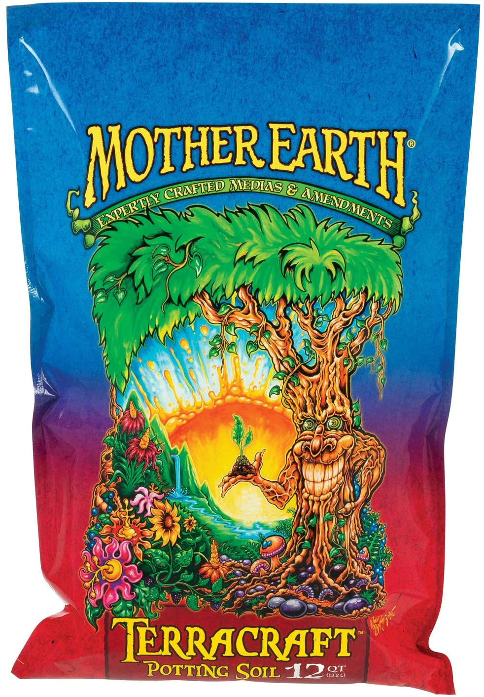 Mother Earth Products HGC714902 Terracraft Potting Soil, All Purpose Potting Soil For All Plants, Flowers, Vegetables And Tomatoes, 12 Qt., Natural