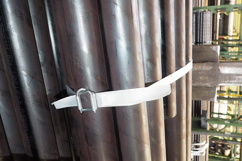 2 Rollen 500 m pro Rolle Umreifungsband 25 mm breit 1250 kg Rei/ßkraft