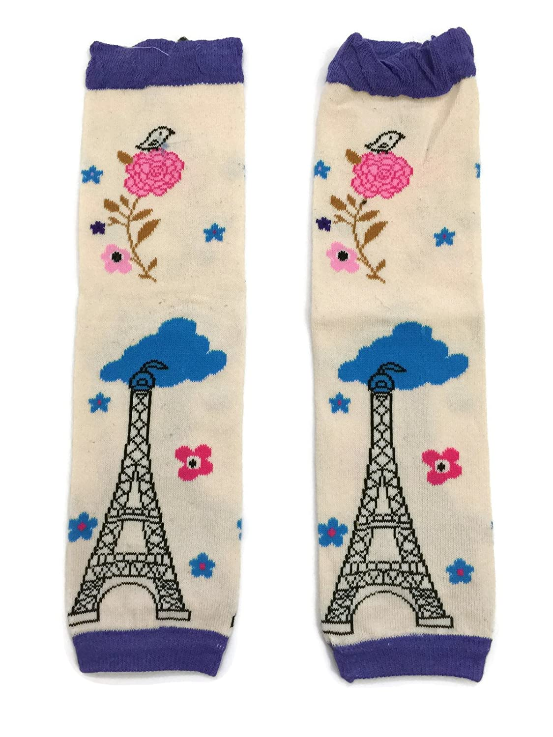 Rush Dance Purple Paris Eiffel Tower for Boys or Girls Baby/Toddler Leg Warmers