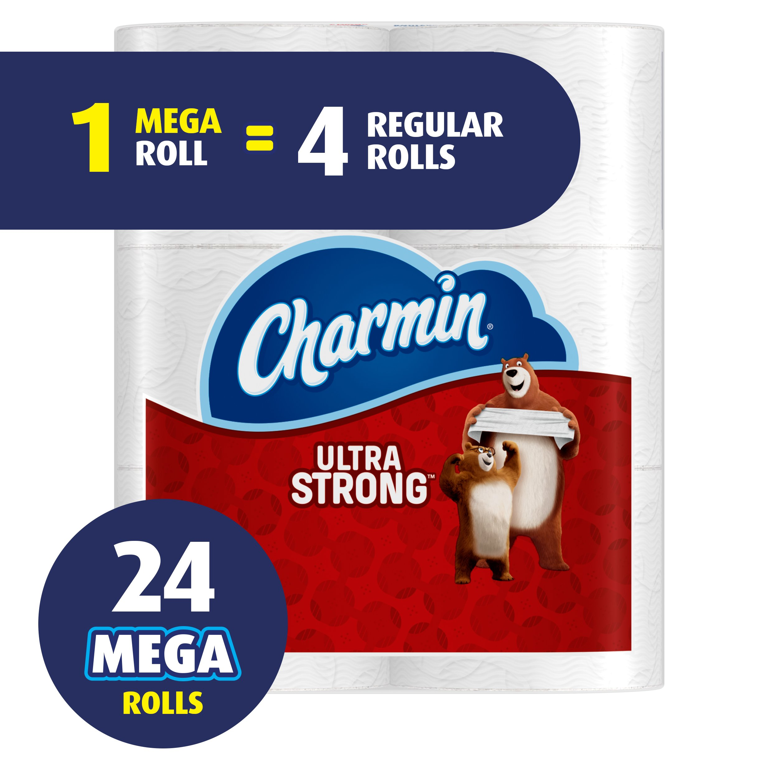 Charmin Ultra Strong Toilet Paper Mega Roll 24 Count