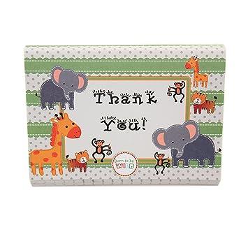 Amazon Com Adorox Baby Jungle Zoo Animals Thank You Cards Baby