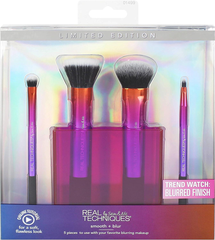 Real Techniques Smooth and Blur, Set de brochas para maquillaje (5 piezas) - 1 pack: Amazon.es: Belleza