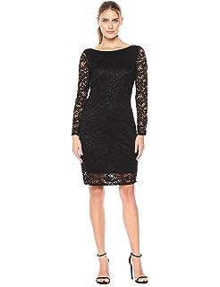 80f287a67fd5 Amazon.com  Marina Women s Beaded Stretch Lace Dress with Multi ...