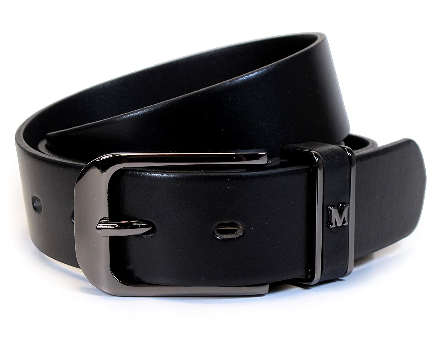 Mens Real Genuine Leather Belt Black Brown White 1.25 Wide S-L Casual Jeans TM7