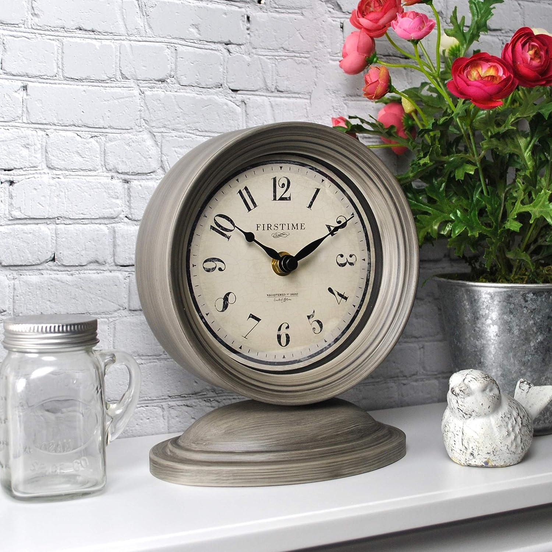 FirsTime /& Co 7.5 x 6.5 Graham Tabletop Clock Dark Gray