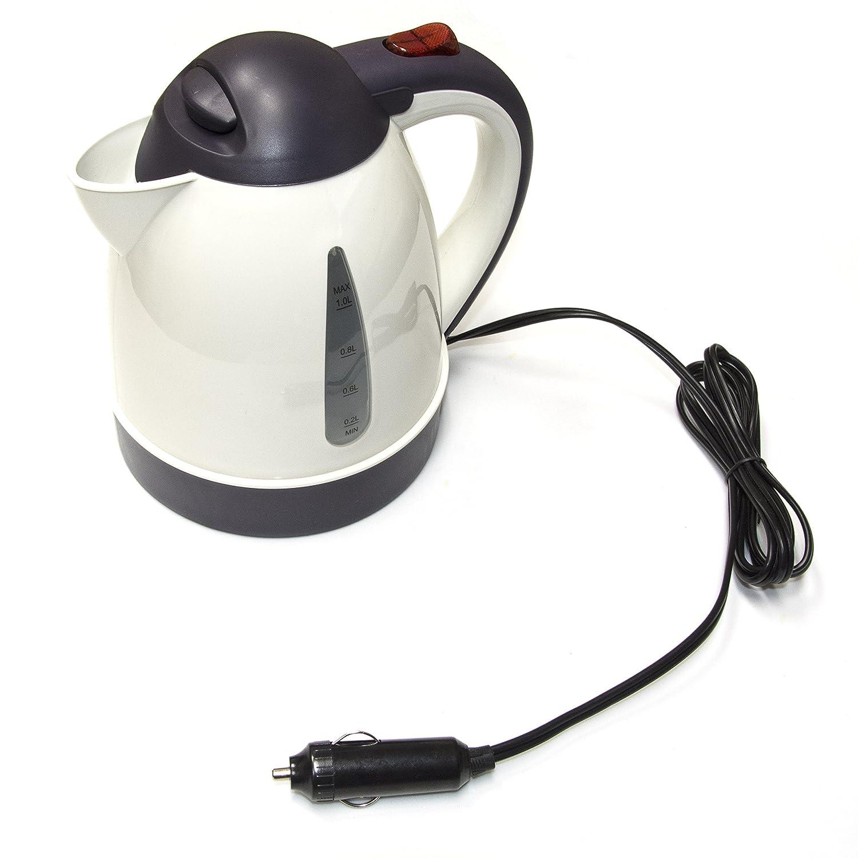 Aleko Carkt12v Portable Travel Hot Pot Electric Car Home Wiring For An Kettle 12v Dc Coffee Tea Espresso Appliance Kitchen Dining