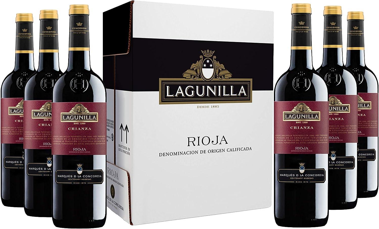 Caja de Lagunilla Crianza Vino Tinto D.O Rioja - 6 botellas x 750 ml. - 4500 ml: Amazon.es: Alimentación y bebidas