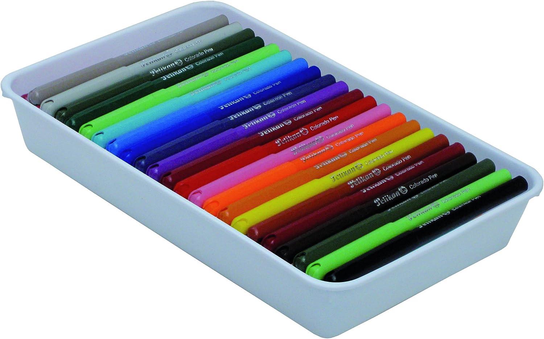 Pelikan 90014 - Bandeja de 72 rotuladores, multicolor: Amazon.es: Oficina y papelería