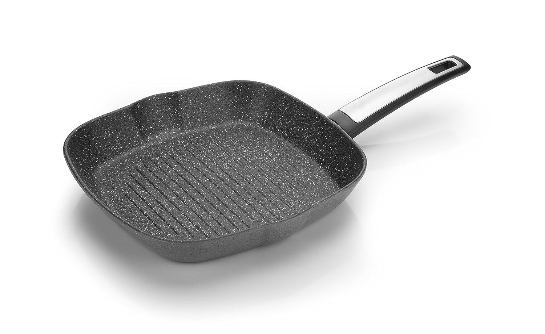 Tescoma I-Premium - Sartén Plancha Cuadrada (Acero Inoxidable, 26 x 26 cm), Color Negro: Amazon.es: Hogar