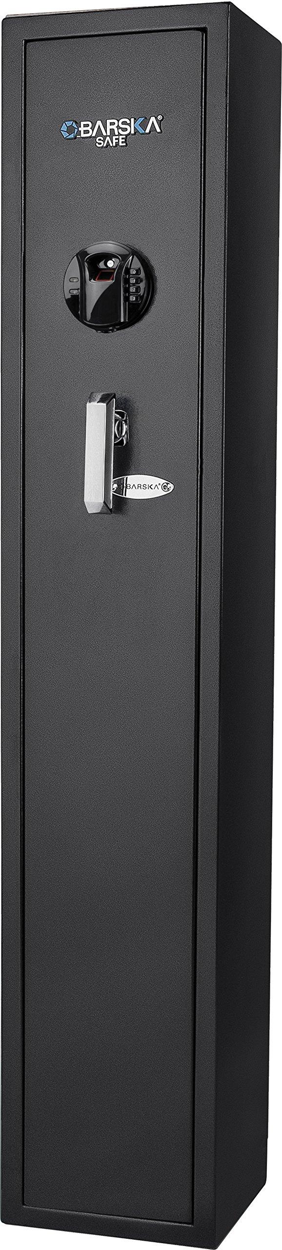 BARSKA New Large Quick Access Biometric Rifle Gun Safe Cabinet (9.8 in x 8.6 in x 52.17 in) by BARSKA