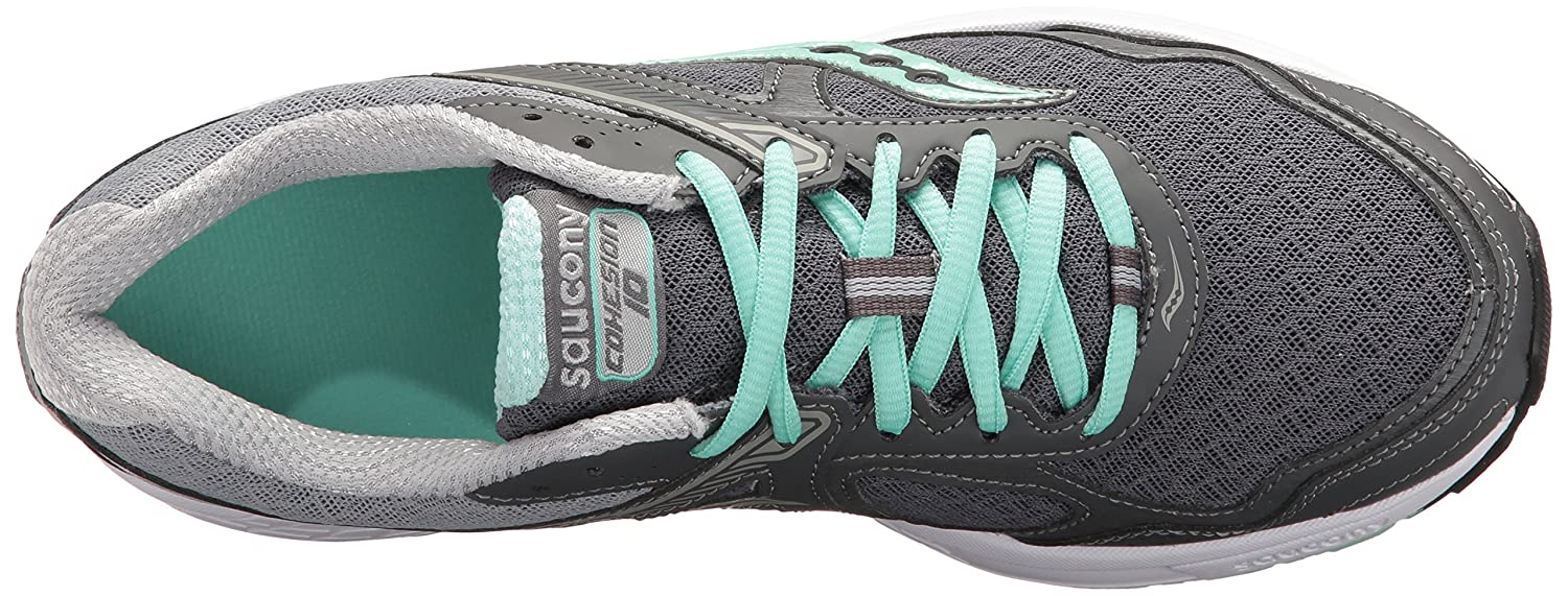 Saucony Women's Cohesion 10 Running Shoe B01HPGMBFS 10 B(M) US|Grey/Mint