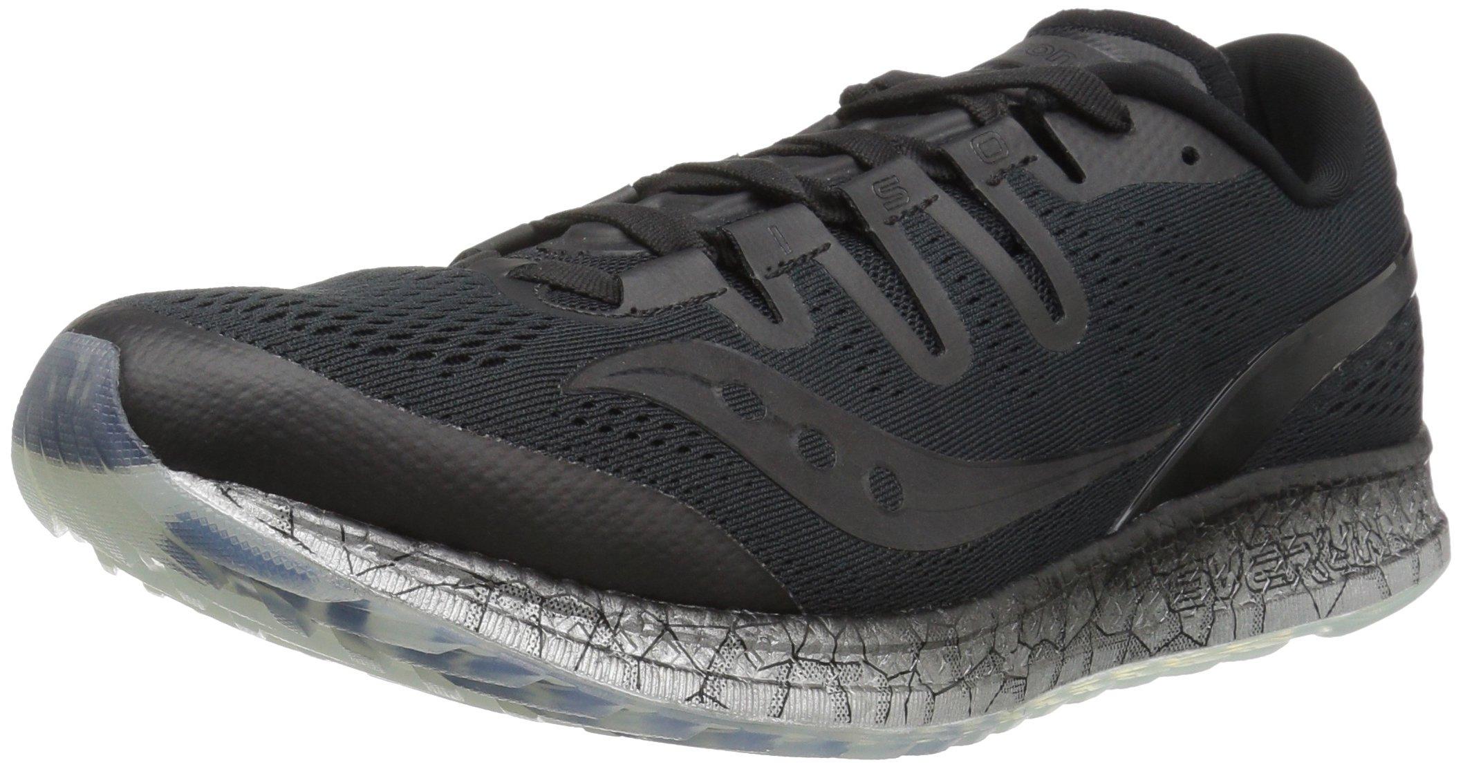 Saucony Men's Freedom ISO Running Shoe, Black, 10.5 M US