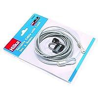 Hilka 701033003mx 4mm Cable de seguridad con candado–Plateado