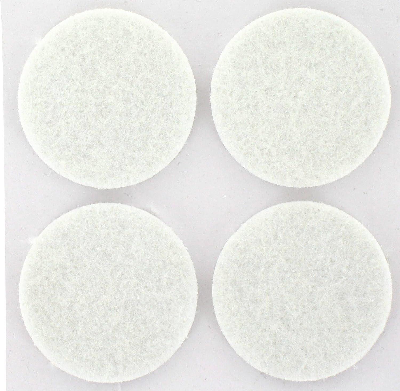 Patin feutre blanc adh/ésif PVM Diam/ètre 35 mm Vendu par 4