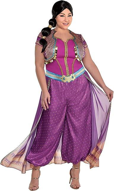 Party City Disfraz de jazmín púrpura para Mujer, Aladdin Live ...