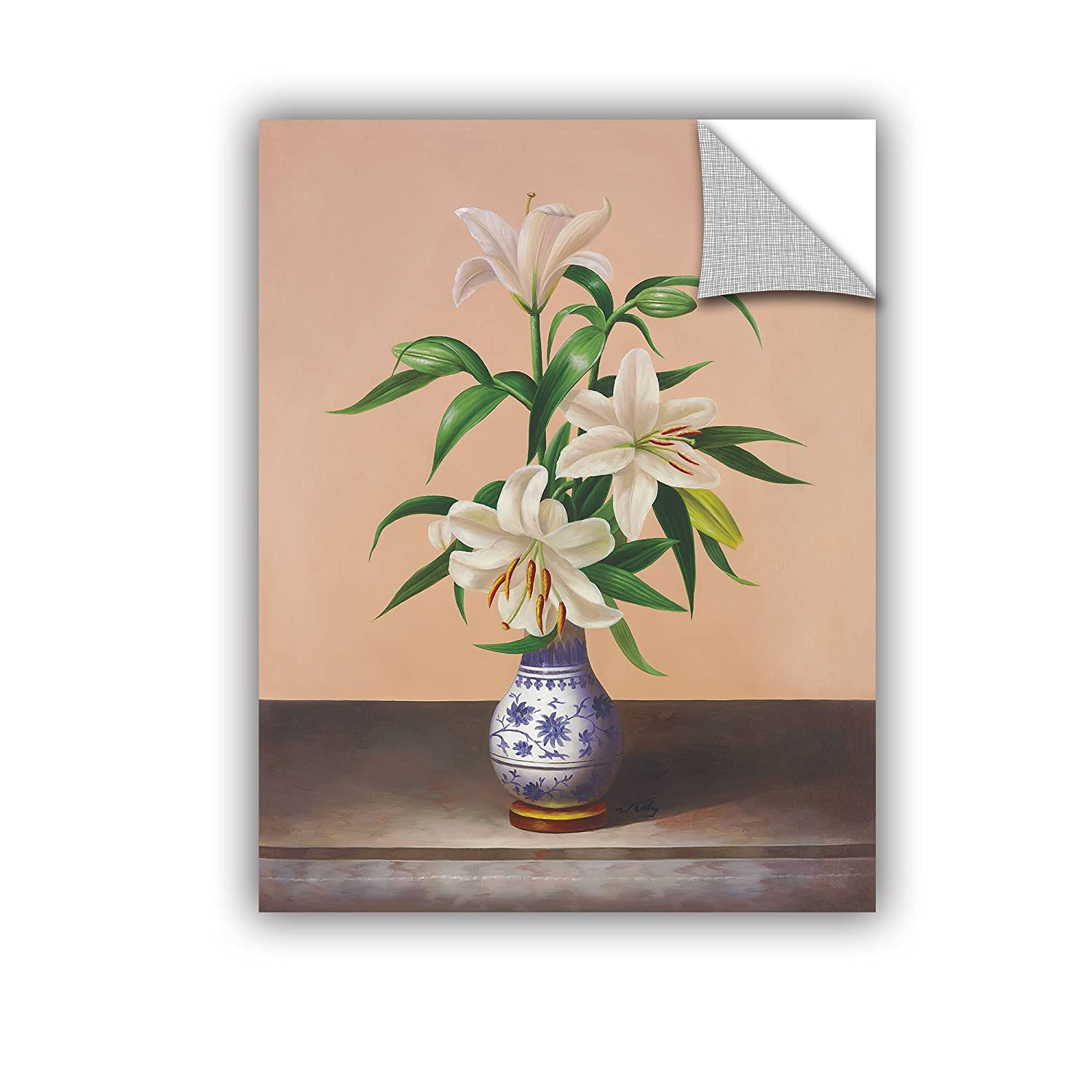 Welby White Lilies Gallery Wrapped Canvas 36X48