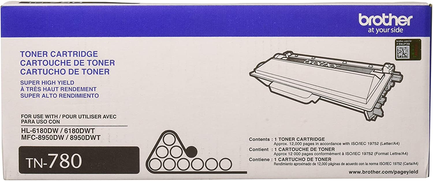 Black Brother TN-780 DCP-8250 HL-6180 MFC-8950 Toner Cartridge in Retail Packaging