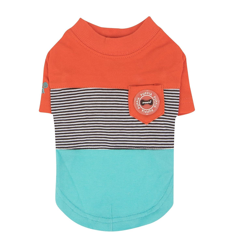 Puppia PARA-TS1503-OR-M orange Zachary Pet-Shirts, Medium