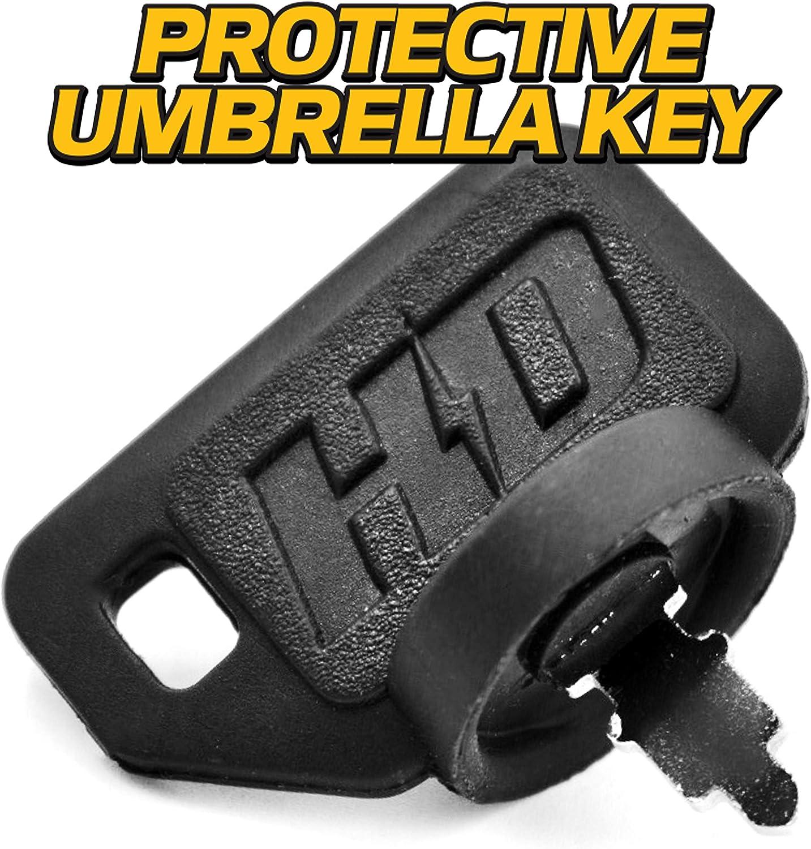 HD Switch Replaces Honda 35100-772-003 Starter Ignition Switch w//Soft-Grip Umbrella Key Upgrade 3 Keys /& Free Carabiner