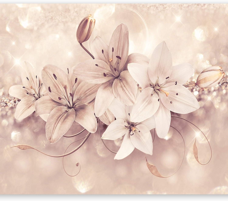 Flores Como Pintadob-B-0046-j-d murando Papel Pintado 10 m Fotomurales tejido no tejido rollo Decoraci/ón de Pared decorativos Murales XXL moderna de Diseno Fotogr/áfico