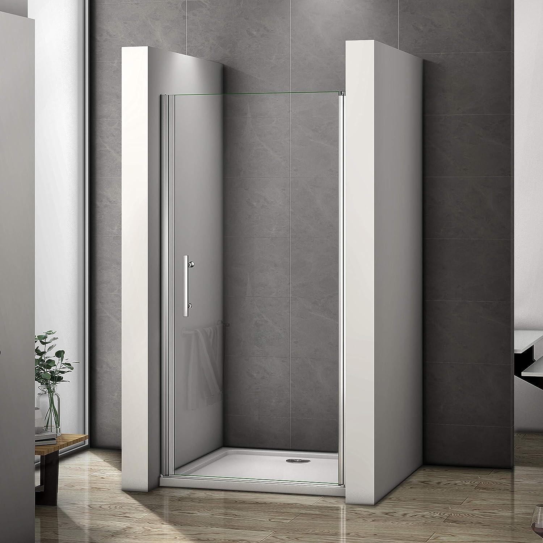 Puerta pivotante sin marco para mampara de ducha reversible con ...