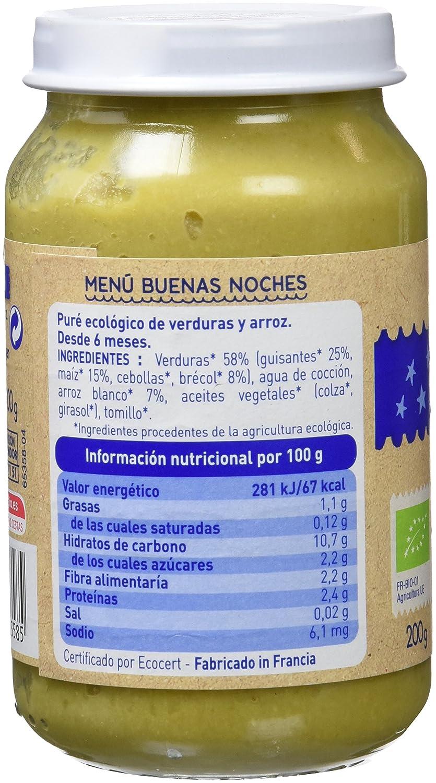 BABYBIO POTITO GUISANTES MAIZ ARROZ 200 gr: Amazon.es: Alimentación y bebidas