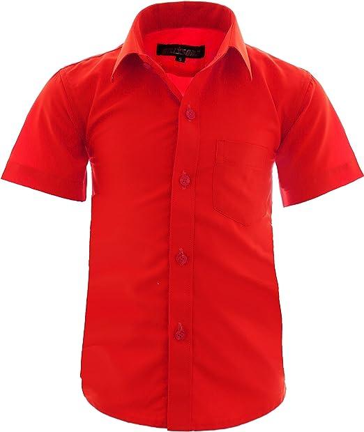 GILLSONZ A0 - Camisa corta para niños (fácil de planchar, talla 86-158)