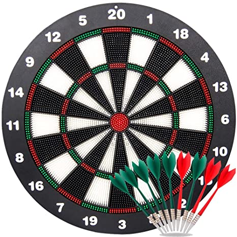 Exceptionnel Ylovetoys Safety Dart Board Set For Kids, 16.4 Inch Rubber Dart Board With  9 Soft