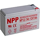 NPP 12V 7 Amp NP12 7Ah UPS Rechargeable Sealed Lead Acid Battery F2 Terminals
